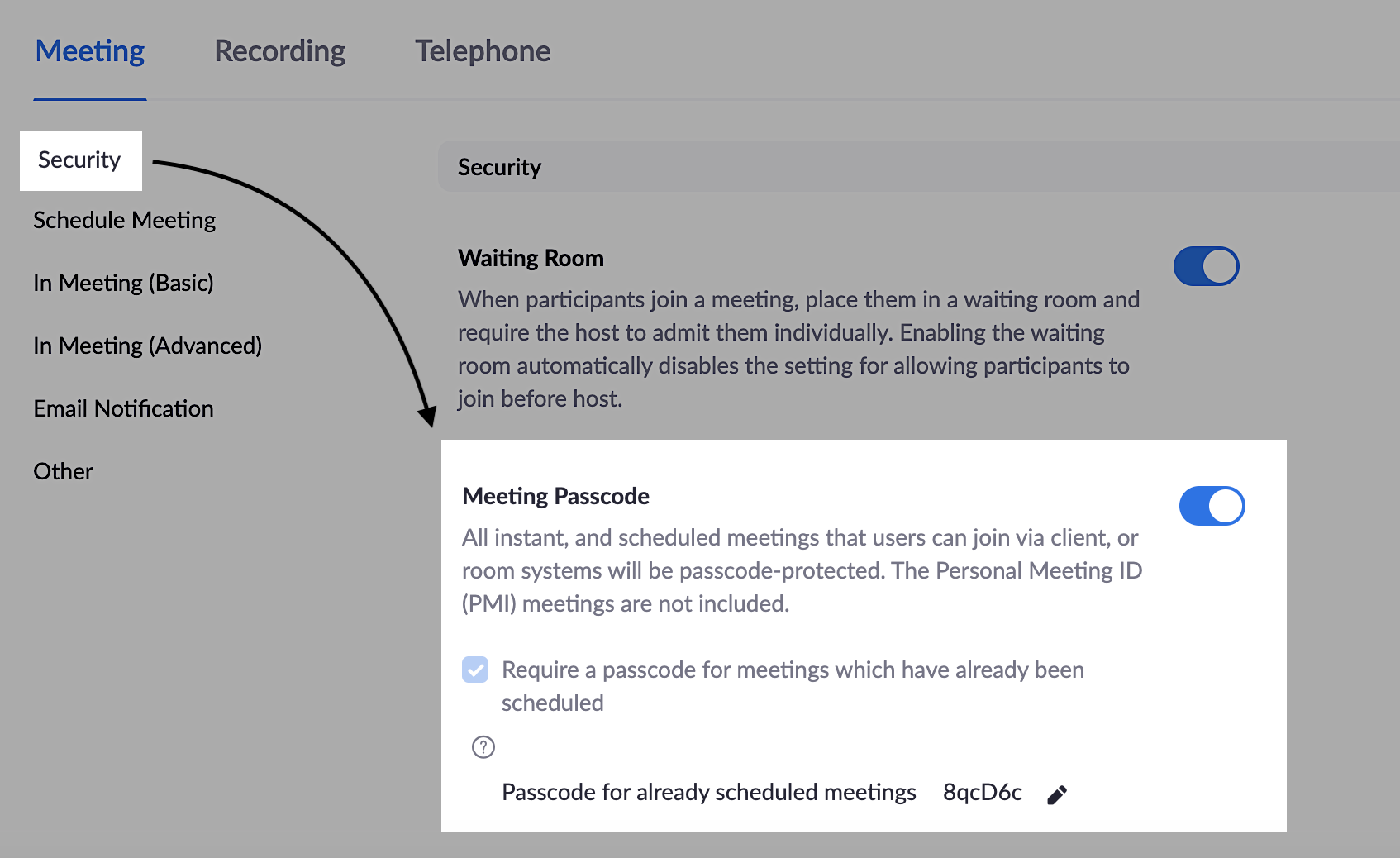 Where do I find the password for my Zoom meeting? – Doodle